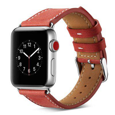 Leather Watch Strap Pin Buckle Watch Band with 22.5cm Long for Apple Watch
