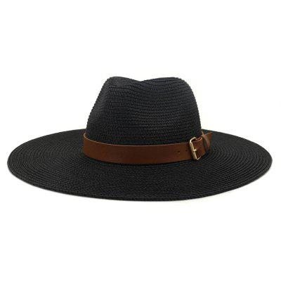 British Style New Spring Summer Grote Brimmed Straw Hat Sir Outdoor Travel Toerisme Hat