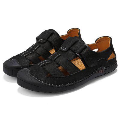 AILADUN Summer Men Sandals Leather Outdoor Leisure Shoes for Male