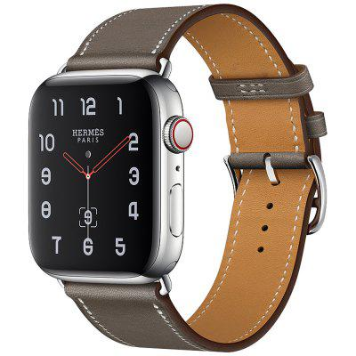 Unisex Leather Replacement Watch Strap First Layer Cow Leather Wristwatch Band for 38/40mm 42/44mm Smart Watch
