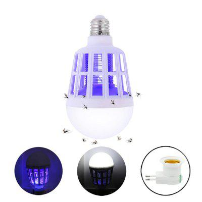 2 in 1 15W Mosquito Repellent Lamp E27 LED Bulb with EU Plug Adapter