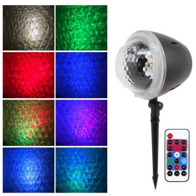 W908-5 Ocean Ripple Projection Lamp 3D Water Sound RGB Projector Sleeping Night Light 85-220V Waterproof Romantic Atmosphere Light