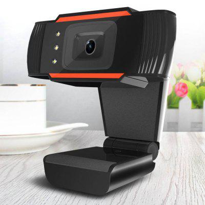 HXSJ A870 USB Webcam HD Video Recording Camera Online Live Web Cam for Computer with Microphone and Light