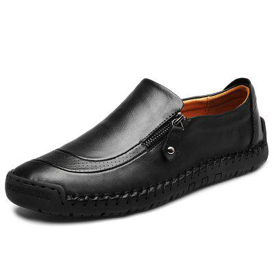 IZZUMI Men's Casual Hand-sewn Leather Shoes Large Size