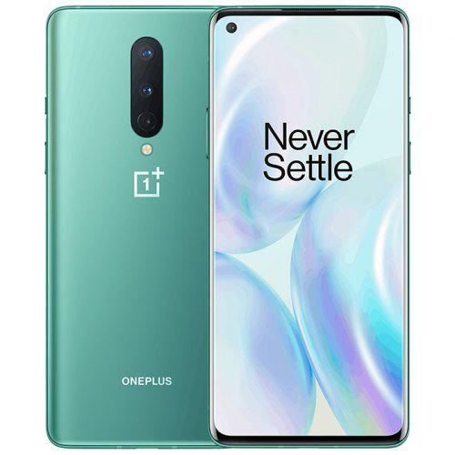 Gearbest Oneplus 8 5G Smartphone 6 .55 inch Snapdragon 865 OxygenOS 48MP+2MP+ 16MP Camera 4300mAh Battery International Version - Light Sea Green 8GB+128GB