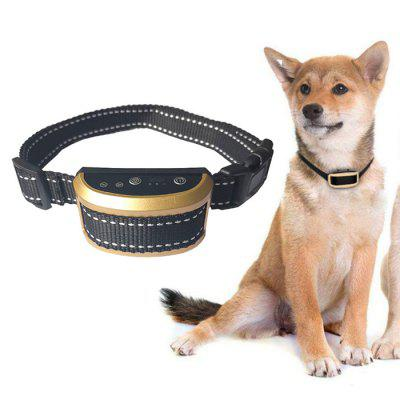 Intelligent Identification Pet Dog Bark Stopper Collar Training LED Automatic Locking Drive Rechargeable Anti-shake Warning Sound Vibration Preventing