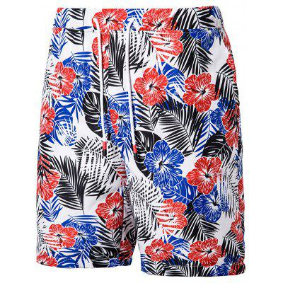 Men Summer Casual Shorts Prints Beach Bottoms