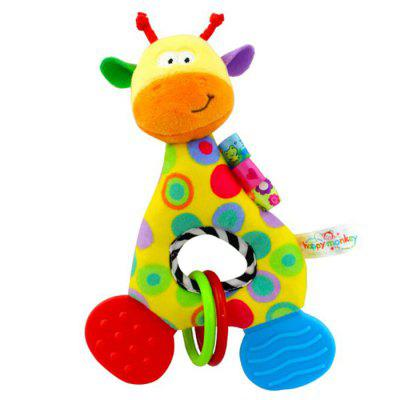 Baby Teether Rattle Soft Plush Toy Newborn Comforting Doll