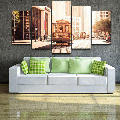 Retro Tram Landscape Pattern Home Decorative Paint Wall Painting