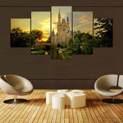 Castle Landscape Pattern Home Decorative Paint Wall Painting