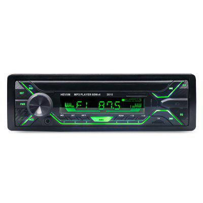 3010 Car Stereo Radio Bluetooth colorat lumină vehicul MP3 player cu transmițător FM Handsfree funcție de apeluri AUX Intrare audio