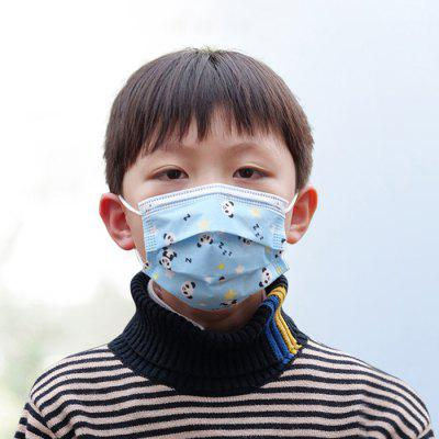 Cartoon Print Kinderen Cute Beschikbaar Masker 3 Ply Anti-fog Kids Maskers Anti Dust Particulate PM2.5 Earloop Respirator 50st