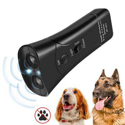 Portable Ultrasonic Infrared Dog Repeller High-power Electronic Cat Deterrent Anti-bite Trainer Flashlight without Battery