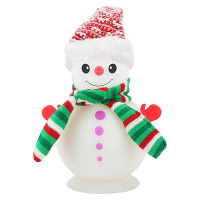 Silicone Luchtbevochtiger Cute Christmas Snowman USB luchtbevochtiger Lovely Kleurrijke Night Light Aroma Diffuser Home Car Office