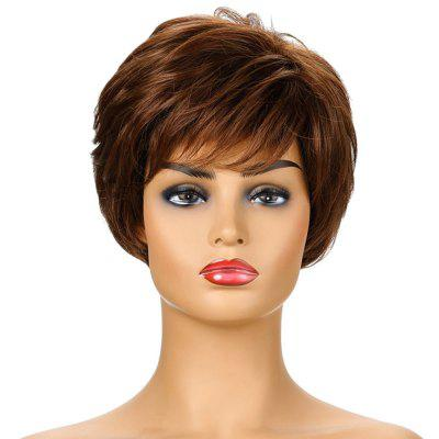 SYJF 111 Women Natural Wave High Temperature Fiber Short Curly Hair Wig