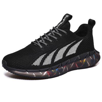 AILADUN Men Sneaker Colorful Bottom Round Toe Casual Shoes Breathable Sports Footwear