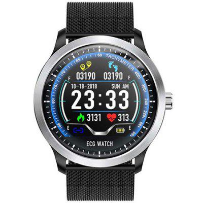 N58 ECG PPG Smart Bracelet Watch Heart Rate Monitor Blood Pressure Fitness Tracker Wristband Smartwatch for iOS Android System Image