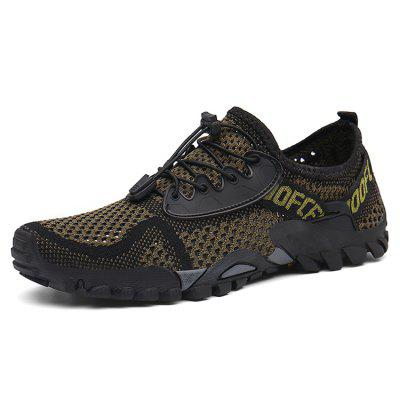 IZZUMI Men Shoes Breathable Flying Woven Outdoor Hiking Footwear Large Size