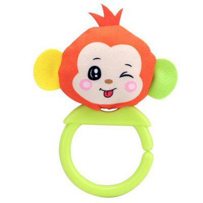 Educational Baby Hand Rattle Animal Cartoon Shape to Appease Early Education Toy