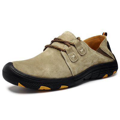AILADUN Men Outdoor Non-slip Hiking Shoes Round Toe Casual Footwear