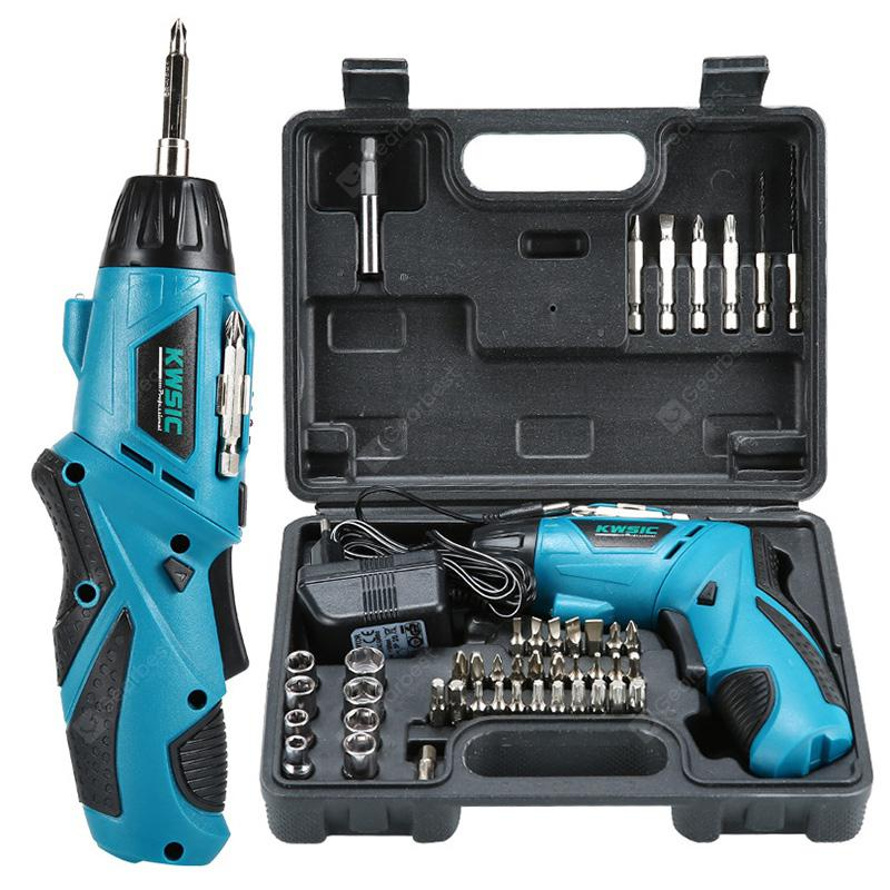 4.8V Rechargeable Household Mini Multifunction Hand Drill Electric Screwdriver Hardware Tools Suit With EU Charger