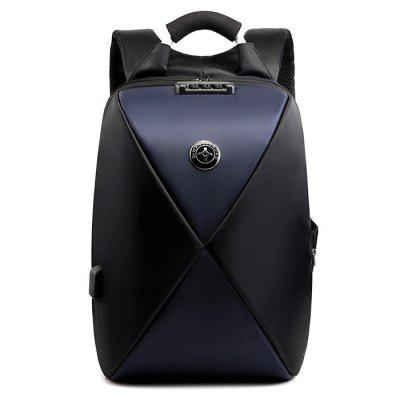 Men Business Backpack proti krádeži Computer Bag Velkokapacitní