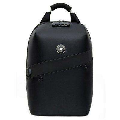 Men Fashion Casual Backpack Oxford Zipper Chain Multifunkční USB heslem Computer Bag