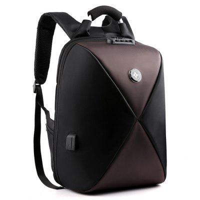 Men Backpack Laptop Bag Interior Zipper Pocket Large Capacity with USB Charging Hole Password Lock