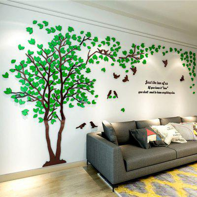 3D Acrylic Wall Sticker Big Tree and Birds Sofa TV Background Home Decoration Wallpaper