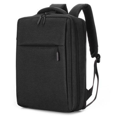 Men Backpack Solid Color Casual Trend Computer Bag