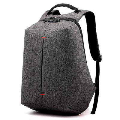 Men Travel Backpack Simple Solid Color Computer Bag 16-inch Business Anti-theft Personality Pack