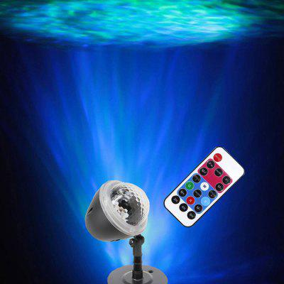 W908-5 Children Nightlight Projector Lamp Marine Corrugated RGB 3D Water Effect