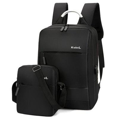 Blh1619 Men Women Travel Bag hliníkové rukojeti Computer Laptop Bag USB port Business Backpack 2PCS