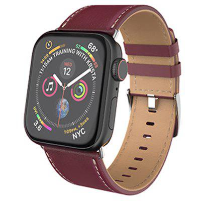 Unisex Leather Strap Fashion Business horlogeband voor Apple Watch