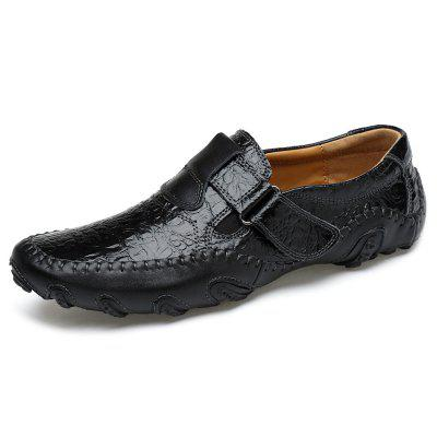 IZZUMI Men Fashion Casual Shoes British Style Octopus Crocodile Skin Texture Business Dress Footwear