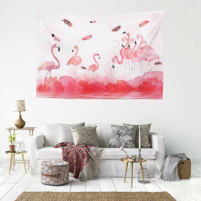 3D Digital Print Flamingo Pattern Home Decoration Tapestry Background Cloth
