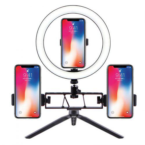 Beauty Photography Selfie LED Ring Lamp 26cm Live Fill Light Three Seats Dimmable Lights