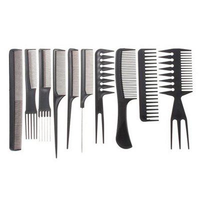 Hair Brush Comb Salon Barber Anti-Static Hairdressing Combs Hair Care Styling Tools 10pcs