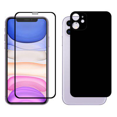 ENKAY 0.26mm 9H 2.5D Full-screen Front Toughened Glass Screen Protector +  Rear Camera Protective Film for iPhone 11