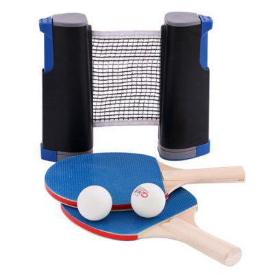 Professional Table Tennis Trainning Tool Set Racket Retractable Mesh Net Portable Ping Pong Student Sports Equipment