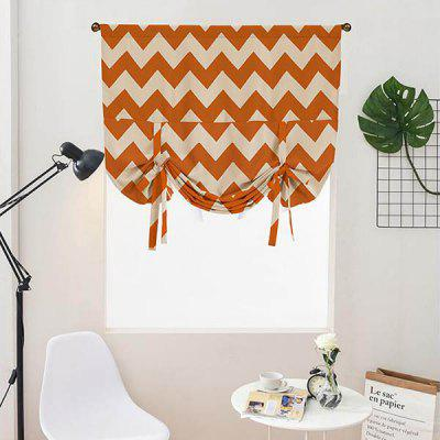 Roman Shade Curtain Fabric Stripe Pattern Thicken Blackout Simple Style Home Decoration