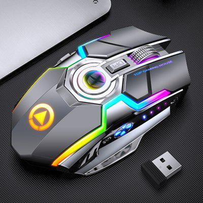 A5 Dobíjecí Gaming Wireless Mouse Mute Silent RGB Light