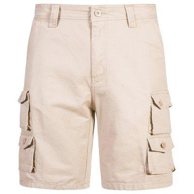 Man Summer Multi-pocket Shorts Solid Color Casual Pants