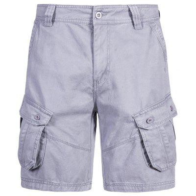 Man Multi-pocket Casual Shorts Comfortable Summer Solid Color Pants