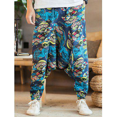 Men Fashion Printing Casual Pants Hip-Hop Style Trousers