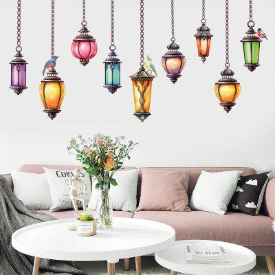 DIY Chandelier Style Wall Sticker PVC Mural Waterproof Removable Decorative Painting Wallpaper