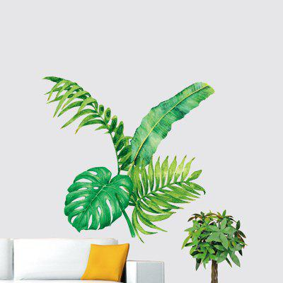 DIY Green Plant Style Wall Sticker PVC Mural Waterproof Removable Decorative Painting Wallpaper
