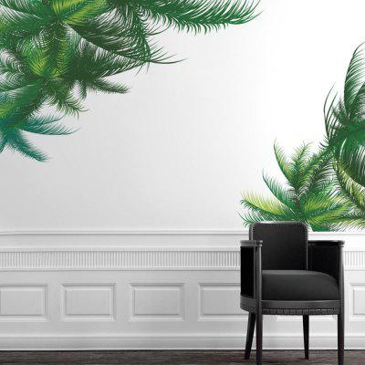 DIY Green Plant Wall Sticker PVC Mural Waterproof Removable Decorative Painting Wallpaper