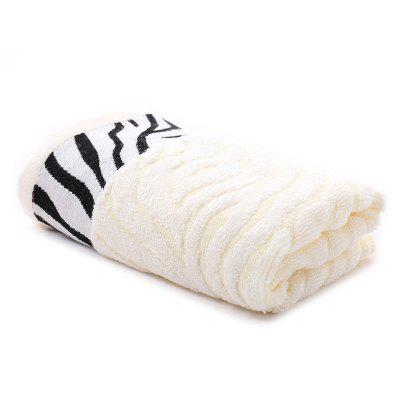 Household Tiger Skin Pattern Bamboo Fiber Towel Absorbent Soft Adult Facial Bath Towels
