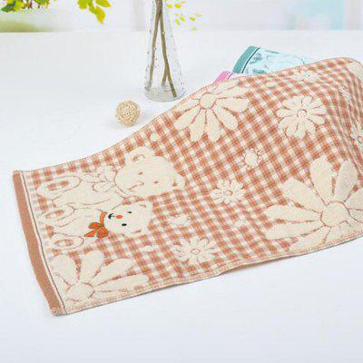 Household Cartoon Bear Pattern Double Layer Children Cotton Towel Wash Face Towels